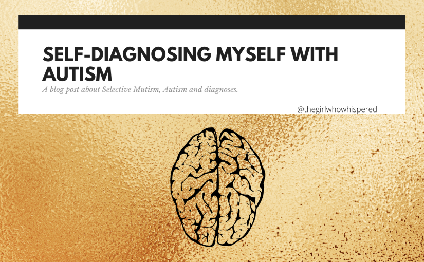 Self-diagnosing myself with Autism